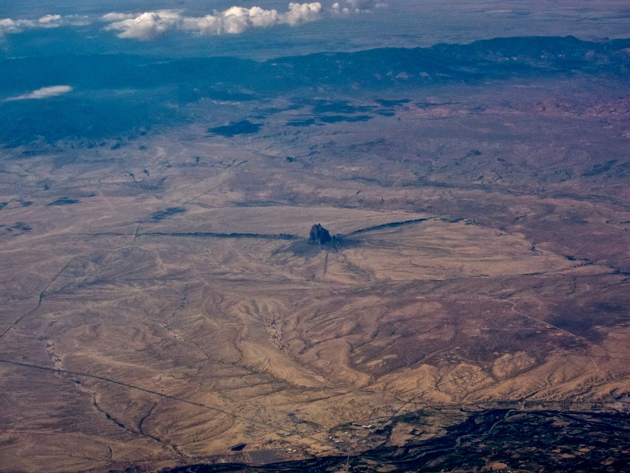 IMG_0444 Aerial Shot of Ship Rock in Northwestern New Mexico